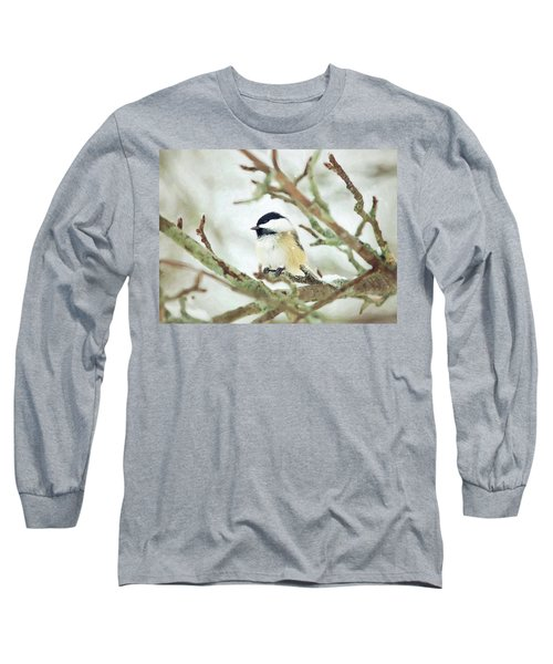 Winter Chickadee Long Sleeve T-Shirt
