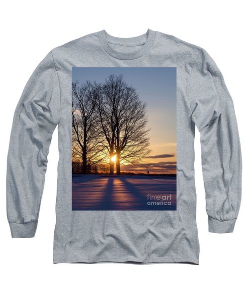 Long Sleeve T-Shirt featuring the photograph Winter, Crystal Spring Farm, Brunswick, Maine -78592 by John Bald