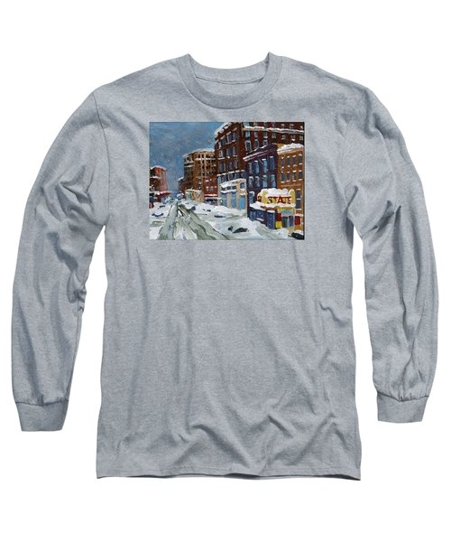 Winter Downtown Long Sleeve T-Shirt by Rodger Ellingson