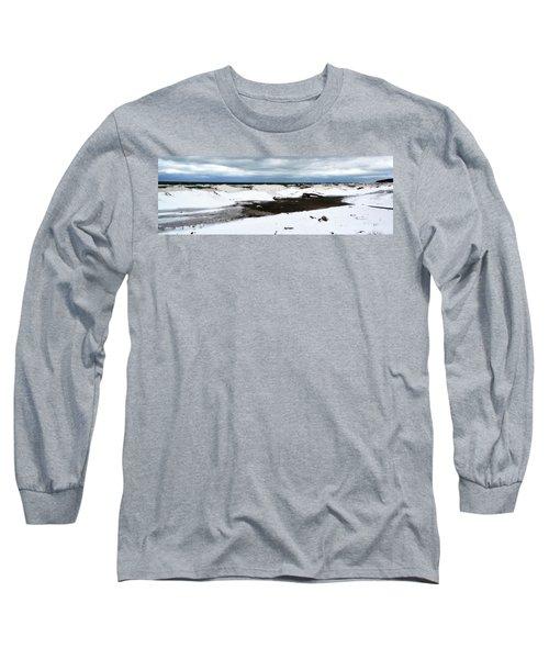Winter Ice On Lake Michigan 3.0 Long Sleeve T-Shirt