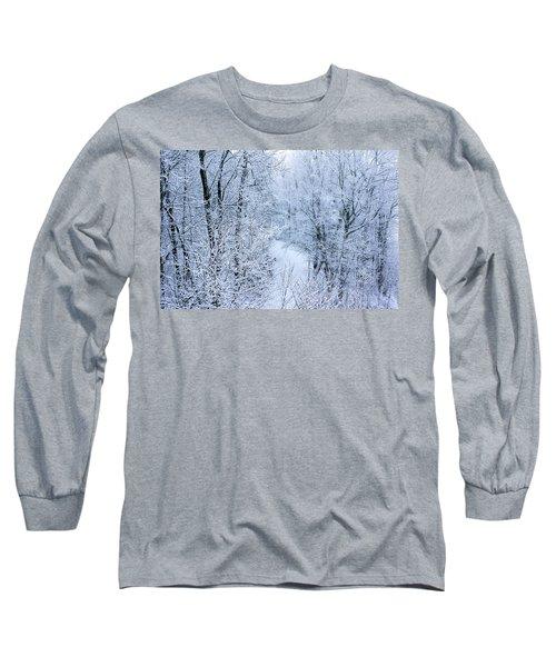 Winter Ice Storm Long Sleeve T-Shirt