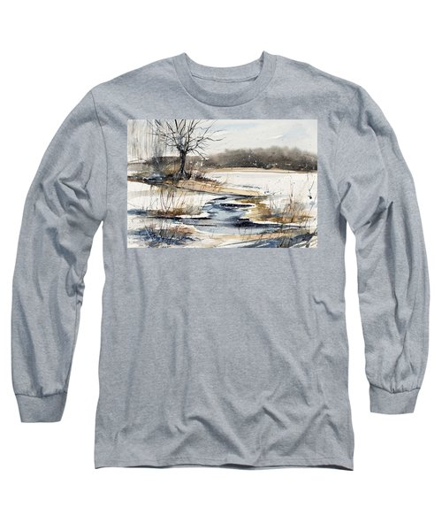 Winter In Caz Long Sleeve T-Shirt by Judith Levins