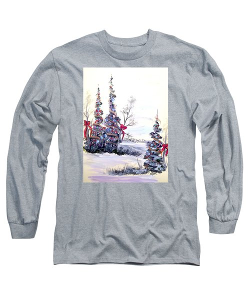 Long Sleeve T-Shirt featuring the painting Winter Joy by Dorothy Maier