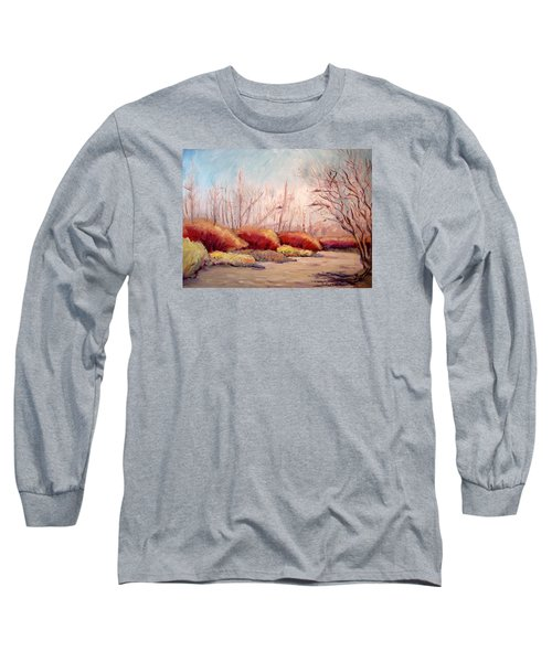 Winter Landscape Dry Creek Bed Long Sleeve T-Shirt