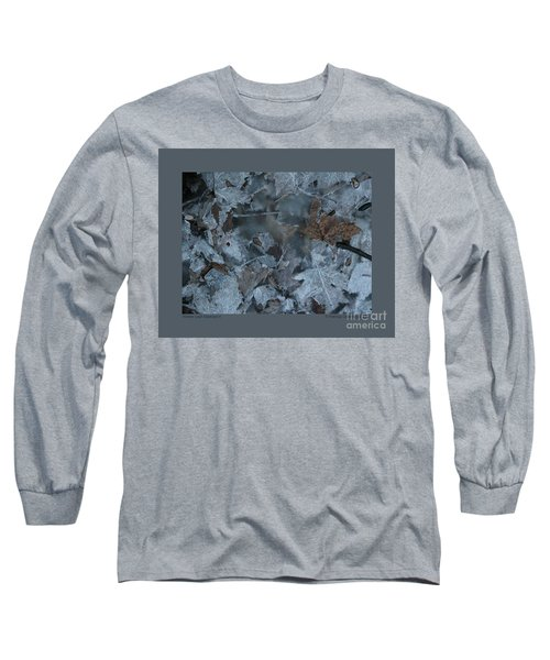 Winter Leaf Abstract-v Long Sleeve T-Shirt by Patricia Overmoyer