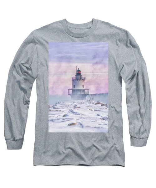 Winter Morning At Spring Point Ledge Long Sleeve T-Shirt