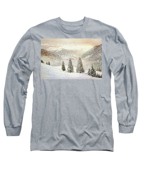 Long Sleeve T-Shirt featuring the digital art Winter Morning by Kai Saarto