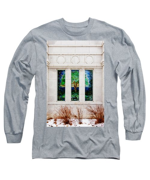 Winter Quarters Temple Tree Of Life Stained Glass Window Details Long Sleeve T-Shirt