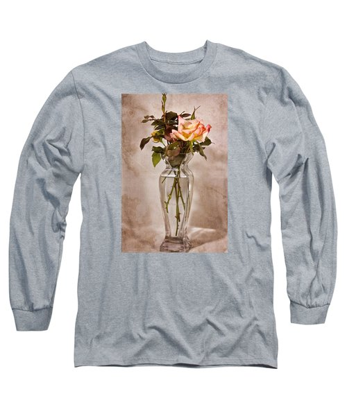 Long Sleeve T-Shirt featuring the photograph Winter Rose by Joan Bertucci