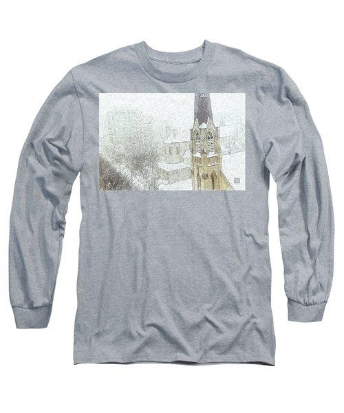 Winter Scene A La Van Gogh Long Sleeve T-Shirt by Yvonne Wright