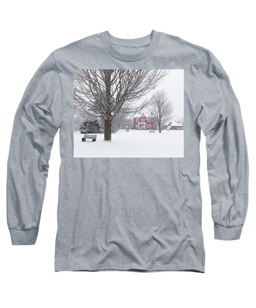 Winter Scene Long Sleeve T-Shirt by Tim Kirchoff
