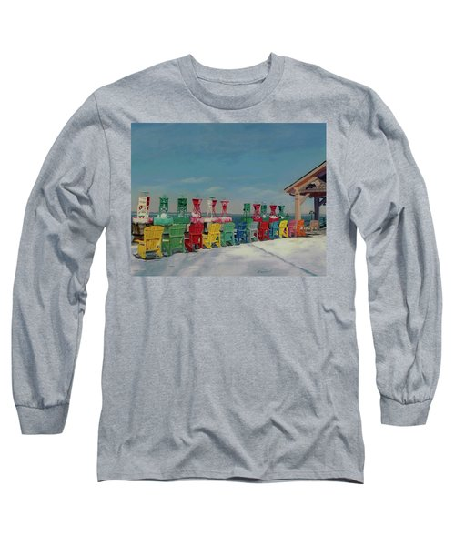 Long Sleeve T-Shirt featuring the painting Winter Sentries by Lynne Reichhart