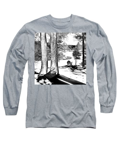 Long Sleeve T-Shirt featuring the photograph Winter Shadows by David Patterson