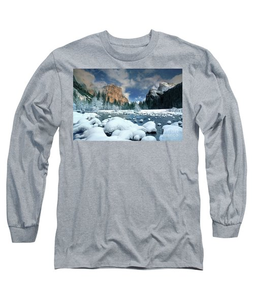 Long Sleeve T-Shirt featuring the photograph Winter Storm In Yosemite National Park by Dave Welling