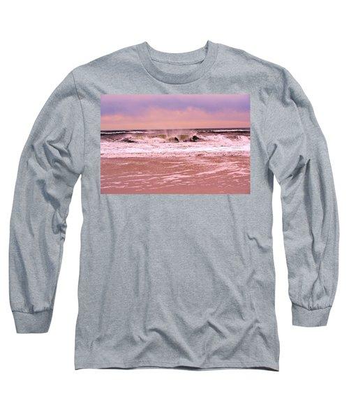 Winter Storm Waves Long Sleeve T-Shirt