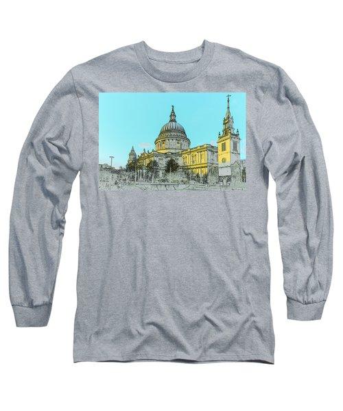 Winter Sun St Paul's Poster  Long Sleeve T-Shirt