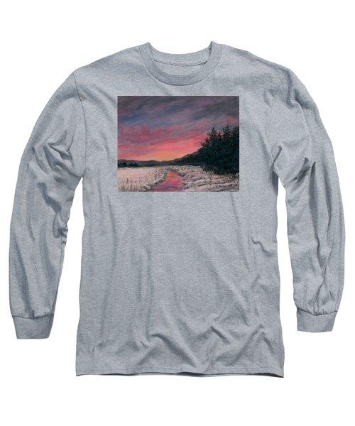 Winter Sundown Long Sleeve T-Shirt by Kathleen McDermott