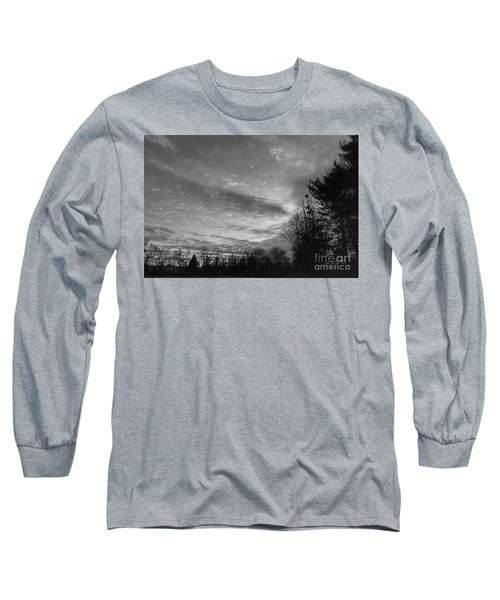Winter Sunset On Woodland Lake Long Sleeve T-Shirt