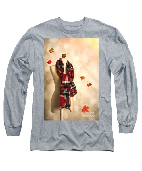 Winter Tartan Scarf Long Sleeve T-Shirt