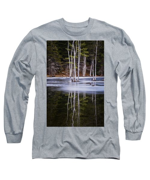 Winter Thaw Relections Long Sleeve T-Shirt by Tom Singleton