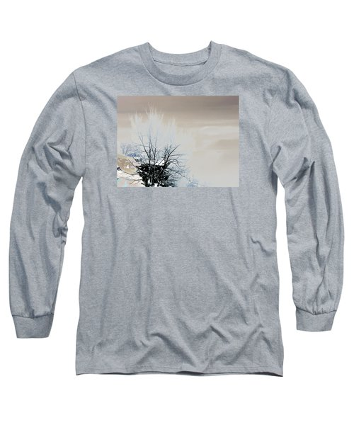 Winter Tree On Mountain Bluff Long Sleeve T-Shirt by Frank Bright