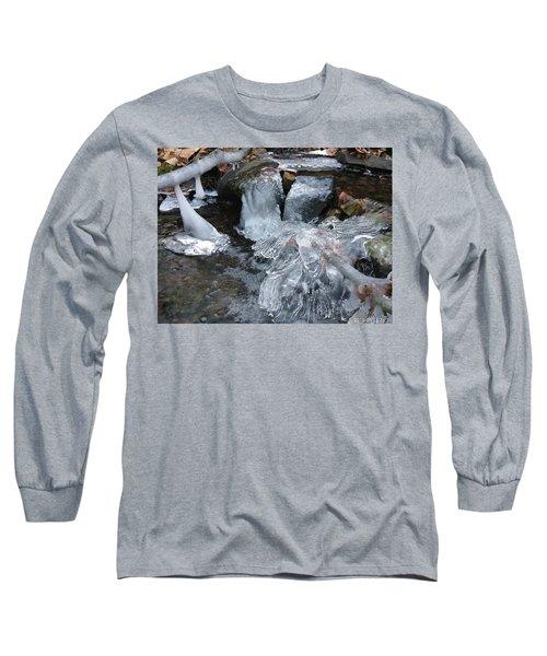 Winter Water Flow 4 Long Sleeve T-Shirt