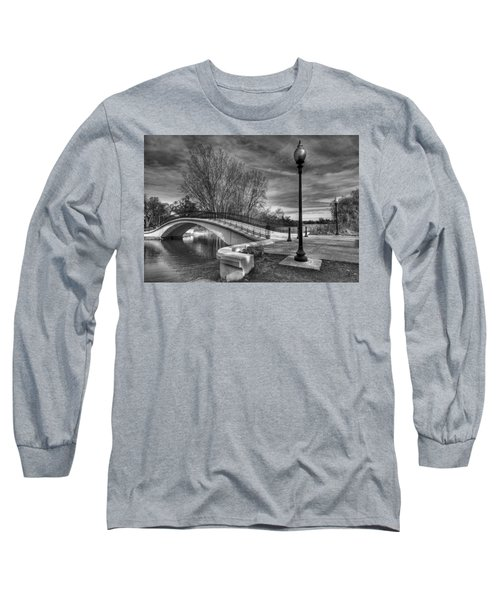 Winter's Bridge Long Sleeve T-Shirt by Rodney Campbell