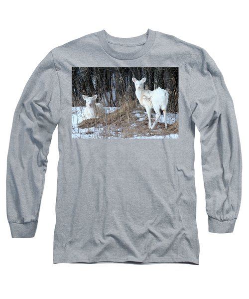 Wintery White Long Sleeve T-Shirt by Brook Burling