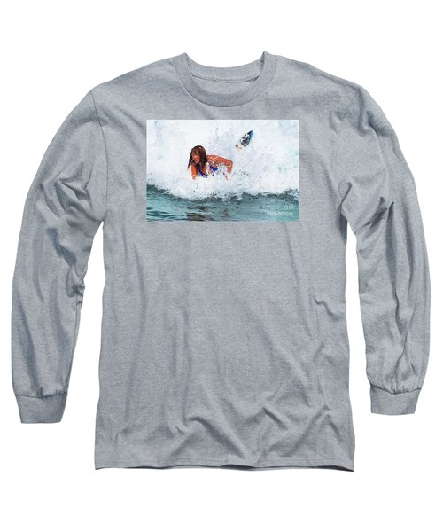 Wipeout - Painterly Long Sleeve T-Shirt by Scott Cameron