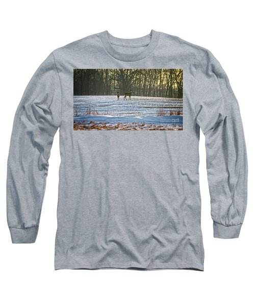 Wisconsin Whitetail Deer Long Sleeve T-Shirt