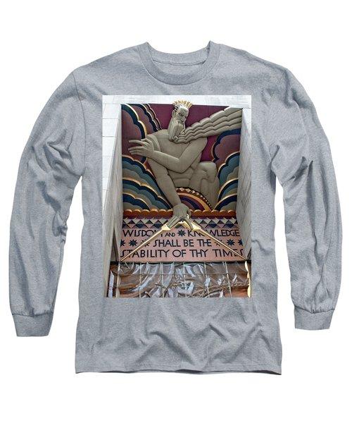 Wisdom Lords Over Rockefeller Center Long Sleeve T-Shirt