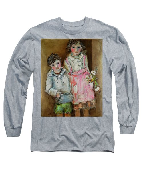 Wishes On A Daisy Long Sleeve T-Shirt by Sharon Furner