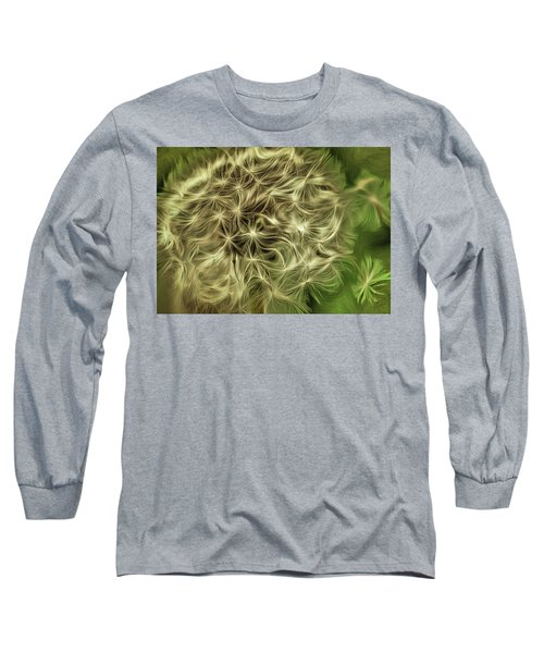 Long Sleeve T-Shirt featuring the mixed media Wishies by Trish Tritz