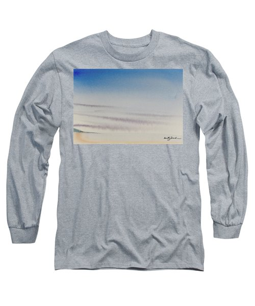 Wisps Of Clouds At Sunset Over A Calm Bay Long Sleeve T-Shirt
