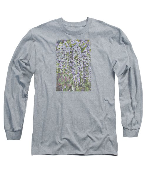 Long Sleeve T-Shirt featuring the photograph Wisteria Before The Hail by Nareeta Martin