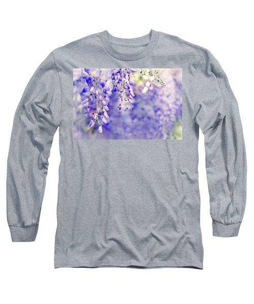 Wisteria Watercolor Long Sleeve T-Shirt