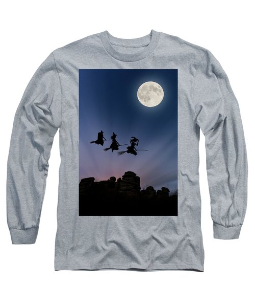 Witches Over Combstone Tor Long Sleeve T-Shirt