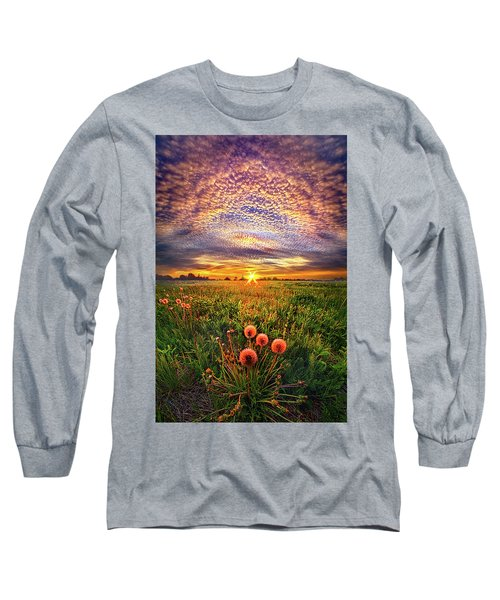 Long Sleeve T-Shirt featuring the photograph With Gratitude by Phil Koch