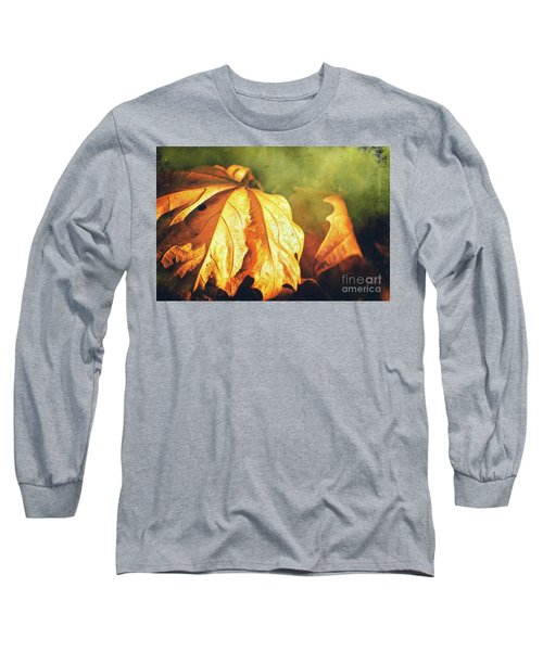 Long Sleeve T-Shirt featuring the photograph Withered Leaves by Silvia Ganora