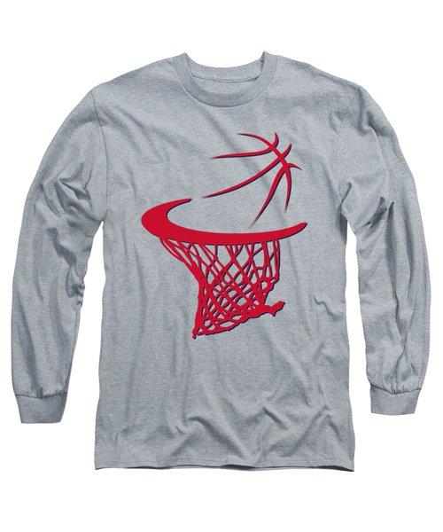 Wizards Basketball Hoop Long Sleeve T-Shirt