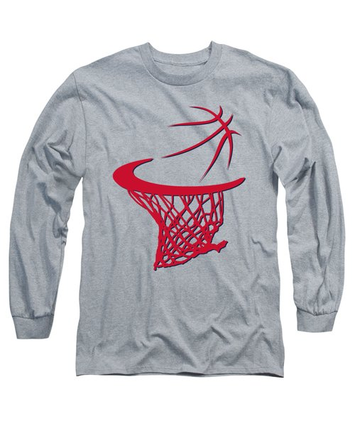 Wizards Basketball Hoop Long Sleeve T-Shirt