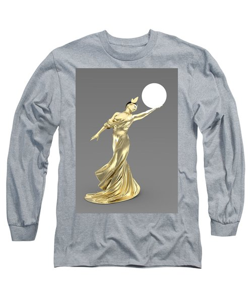 Woman Lamp Modernist Style Long Sleeve T-Shirt