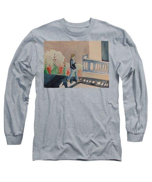Woman Walking Down Nusbaum Street Long Sleeve T-Shirt