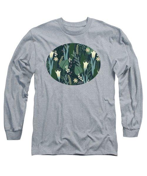 Wonderful Mid Century Style Garden Patten  Long Sleeve T-Shirt