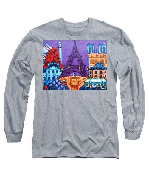 Wonders Of Paris Long Sleeve T-Shirt