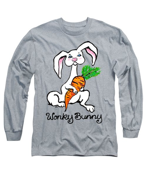 Wonky Bunny Carrot Long Sleeve T-Shirt by Katherine Nutt