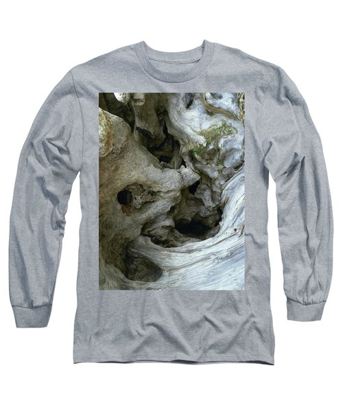 Wood Abstract Long Sleeve T-Shirt