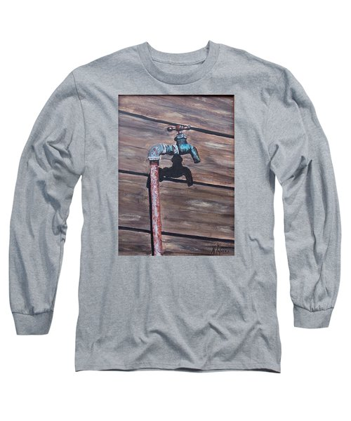Wood And Metal Long Sleeve T-Shirt