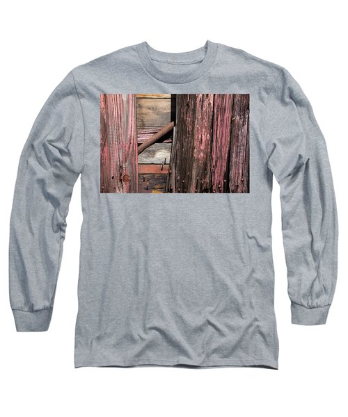 Long Sleeve T-Shirt featuring the photograph Wood And Rod by Karol Livote