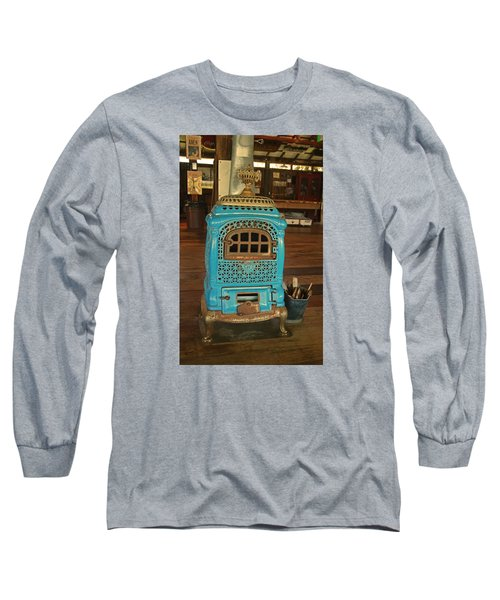 Wood Burning Heater Long Sleeve T-Shirt by Ronald Olivier